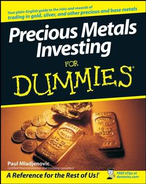 book from for dummies series on precious metals